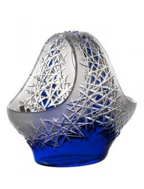 Cesto Hoarfrost, cristallo, colore blu, diametro 255 mm