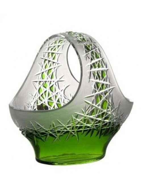 Cesto Hoarfrost, cristallo, colore verde, diametro 255 mm
