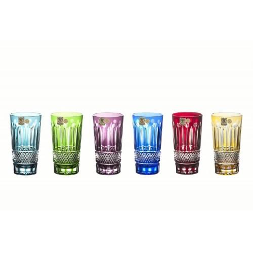 Set Bicchieri Tomy, cristallo, multicolore, volume 320 ml