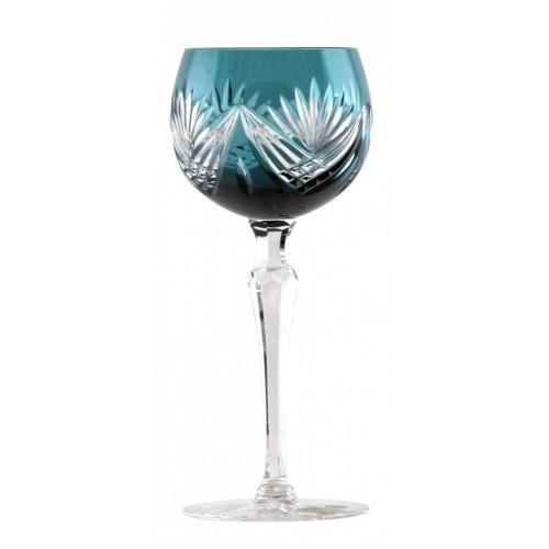 Bicchiere Janette, cristallo, colore azzurro, volume 190 ml