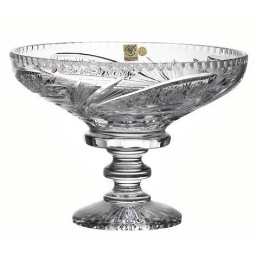 Portafrutta Cometa, cristallo trasparente, diametro 250 mm