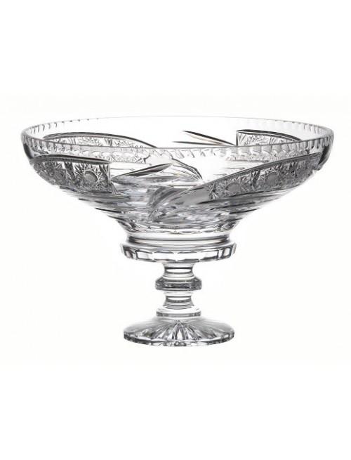 Portafrutta Cometa, cristallo trasparente, diametro 355 mm
