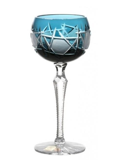 Bicchiere Mars, cristallo, colore azzurro, volume 190 ml
