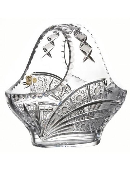 Cesto Cometa, cristallo trasparente, diametro 255 mm