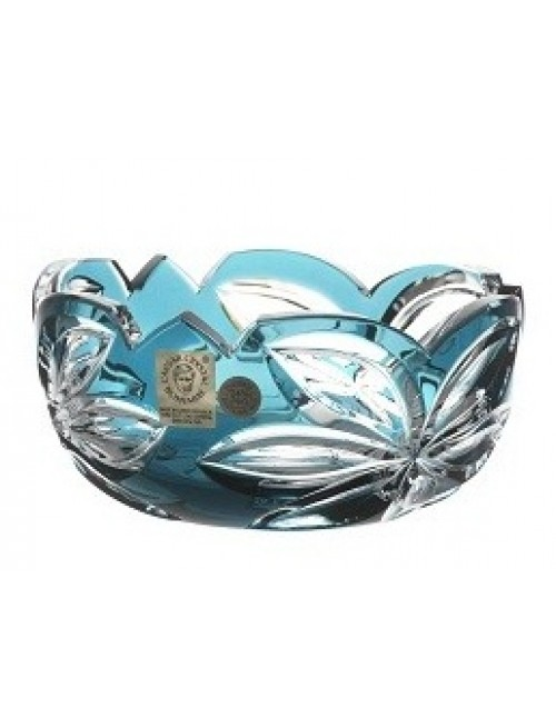 Ciotola Linda, cristallo, colore azzurro, diametro 116 mm