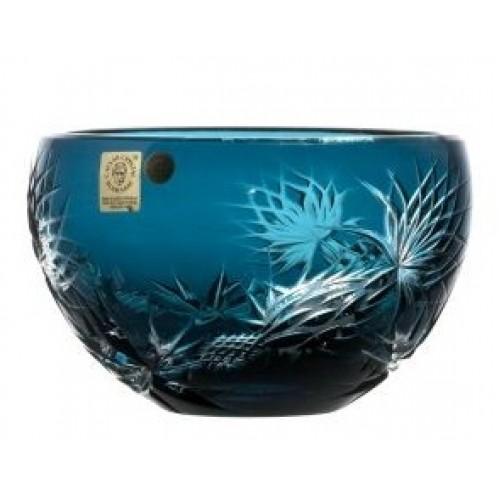 Ciotola Thistle, cristallo, colore azzurro, diametro 140 mm