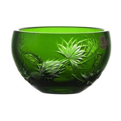 Ciotola Thistle, cristallo, colore verde, diametro 140 mm