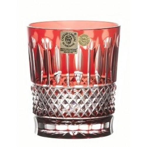 Bicchiere Tomy, cristallo, colore rosso scuro, volume 289 ml