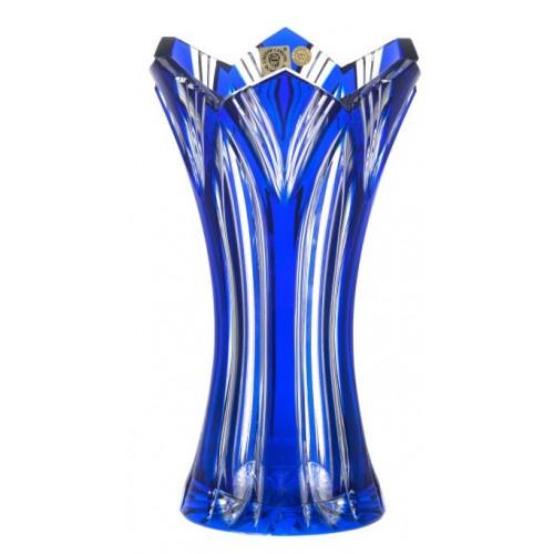 Vaso Lotos, cristallo, colore blu, altezza 230 mm