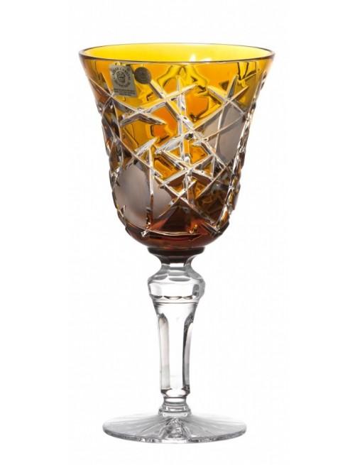 Bicchiere Mars, cristallo, colore ambra, volume 240 ml