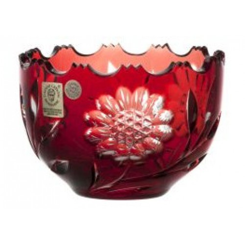 Ciotola Garden, cristallo, colore rosso, diametro 110 mm
