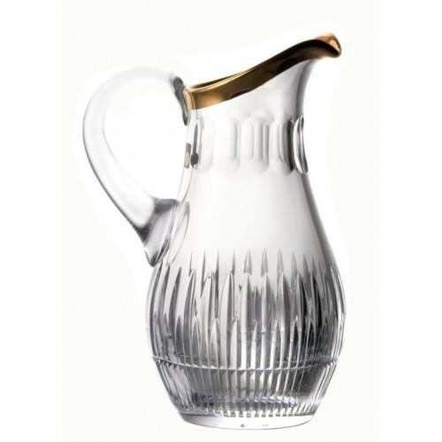 Brocca Thorn, cristallo trasparente dipinto oro, volume 1500 ml