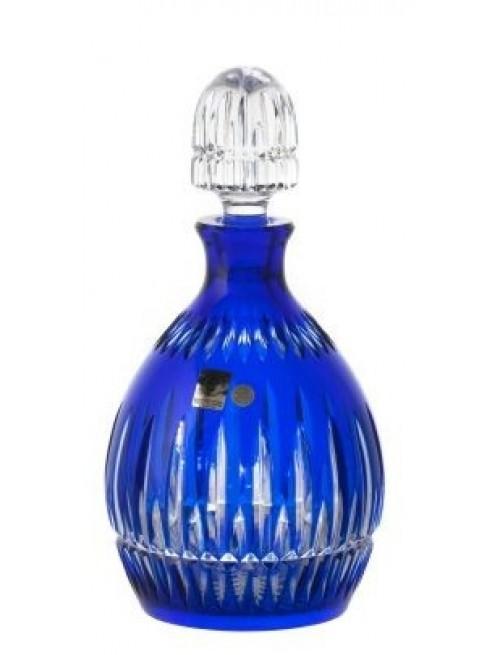 Bottiglia Thorn, cristallo, colore blu, volume 700 ml