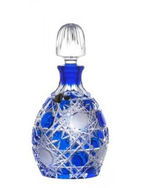 Bottiglia Flake, cristallo, colore blu, volume 700 ml