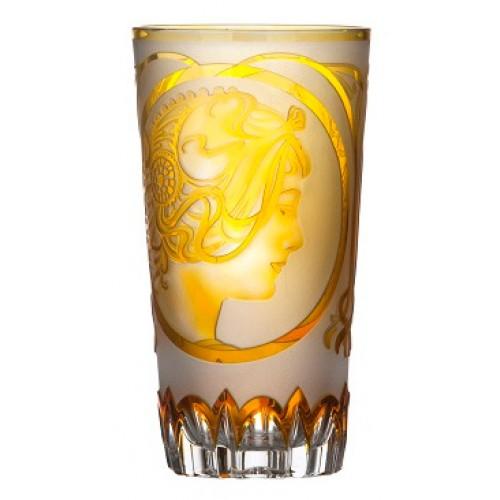 Bicchiere Mucha, cristallo, colore ambra, volume 320 ml