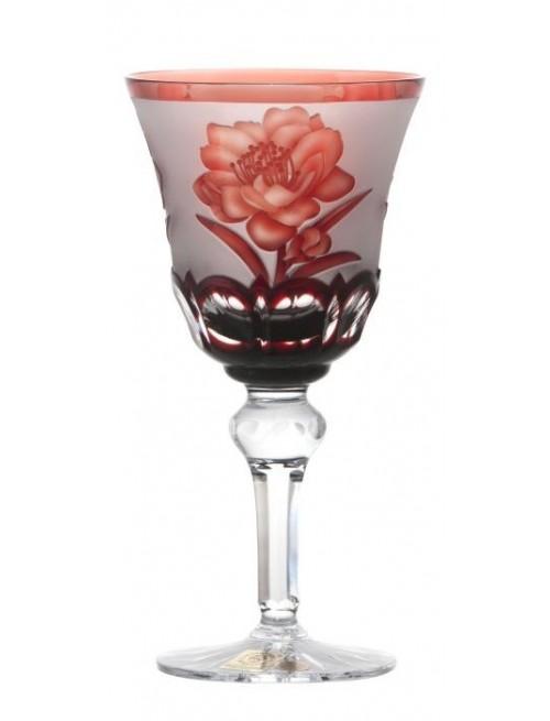 Bicchiere Sakura, cristallo, colore rosso, volume 180 ml