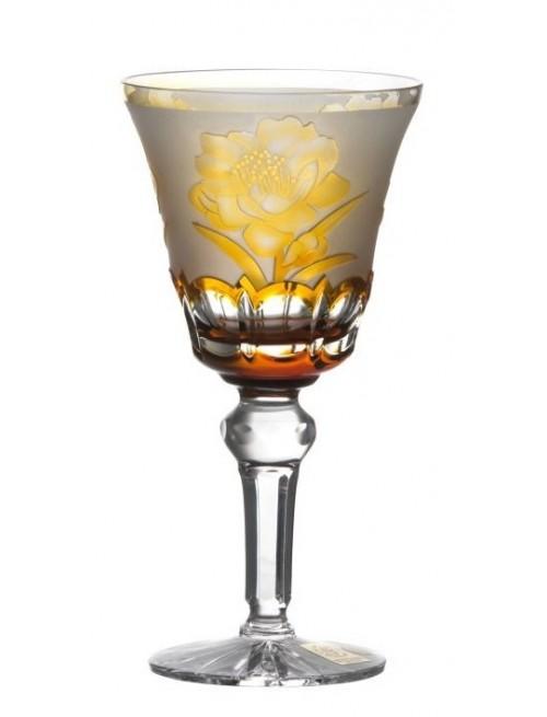 Bicchiere Sakure, cristallo, colore ambra, volume 180 ml