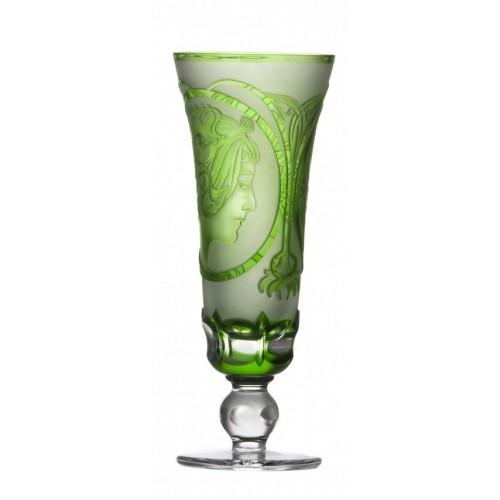 Bicchiere Mucha, cristallo, colore verde, volume 150 ml
