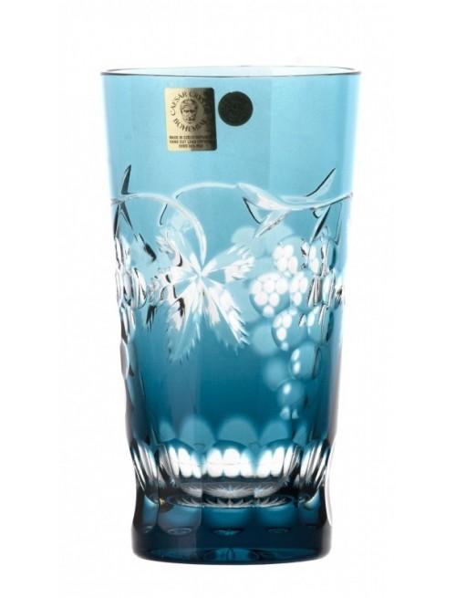 Bicchiere Grapes, cristallo, colore azzurro volume 320 ml