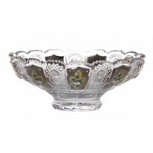 Insalatiera 500PK, cristallo trasparente dipinto platino, diametro 250 mm