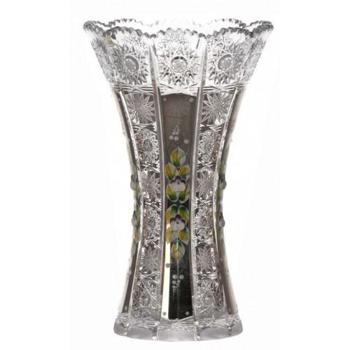 Vaso 500PK, cristallo trasparente dipinto platino, altezza 255 mm