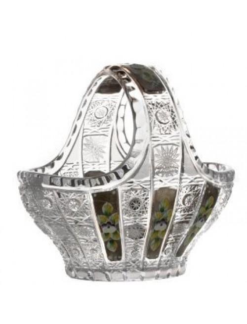 Cesto Thorn, cristallo trasparente dipinto platino, diametro 200 mm