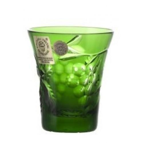 Bicchierino Grapes, cristallo, colore verde, volume 45 ml