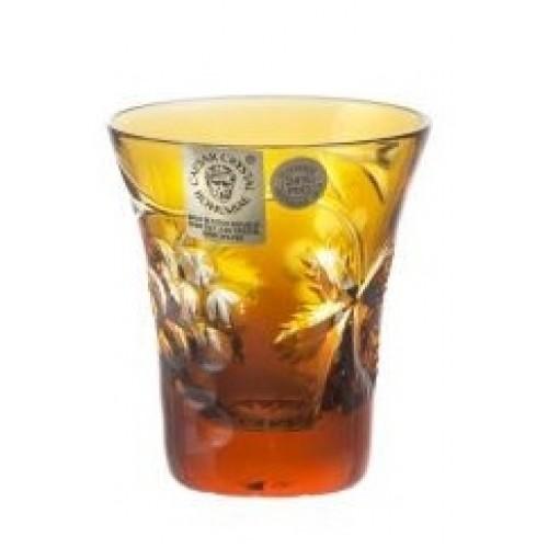 Bicchierino Grapes, cristallo, colore ambra, volume 45 ml