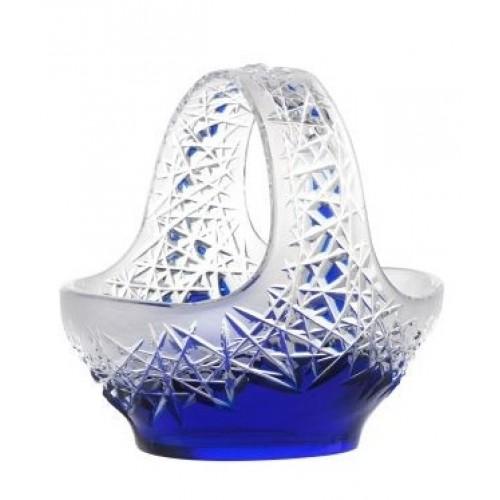 Cesto Hoarfrost, cristallo, colore blu, diametro 230 mm