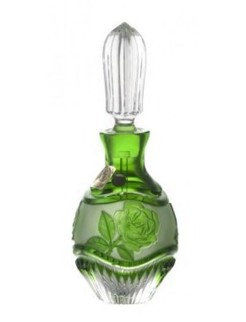 Flacone Rose, cristallo, colore verde, volume 130 ml