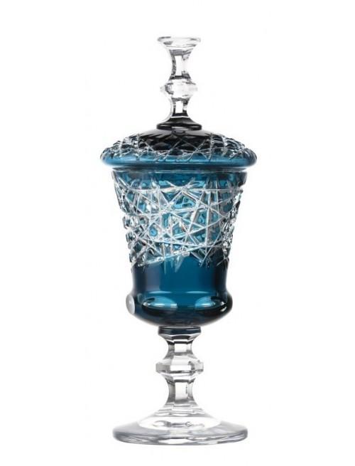 Coppa Taiga, cristallo, colore azzurro, altezza 350 mm