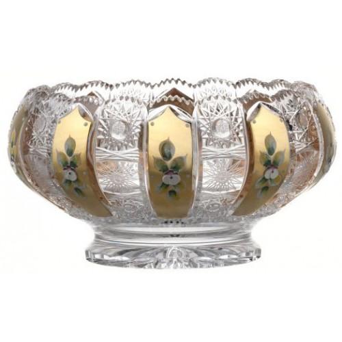 Insalatiera 500PK, cristallo trasparente dipinto oro, diametro 260 mm