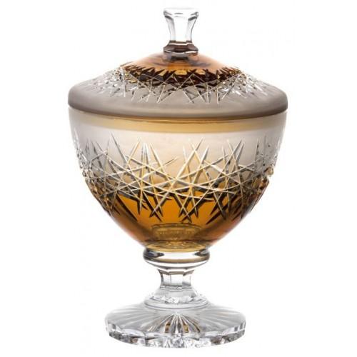 Confettiera Hoarfrost, cristallo, colore ambra, altezza 260 mm