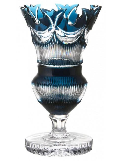 Vaso Diadem, cristallo, colore azzurro, altezza 410 mm