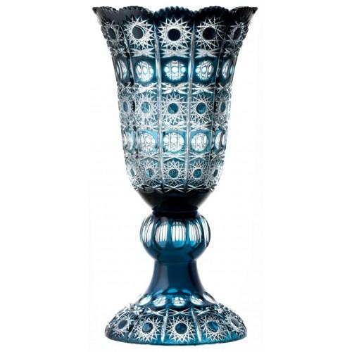 Vaso Petra, cristallo, colore azzurro, altezza 430 mm