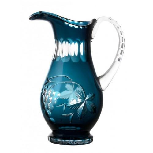 Brocca Grapes, cristallo, colore azzurro, volume 1300 ml