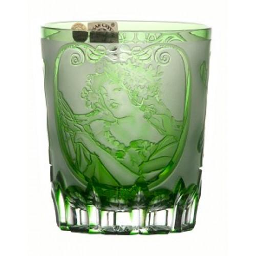 Bicchiere Mucha, cristallo, colore verde, volume 290 ml