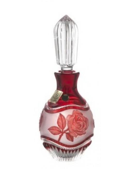 Flacone Rose, cristallo, colore rosso, volume 130 ml