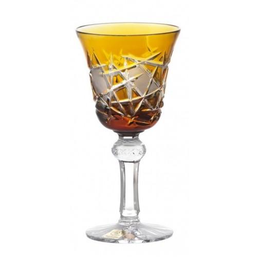 Bicchiere Mars, cristallo, colore ambra, volume 180 ml