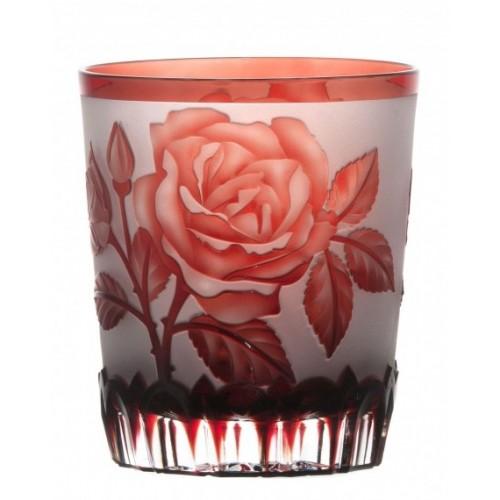 Bicchiere Rose, cristallo, colore rosso, volume 290 ml