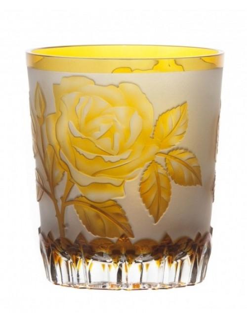 Bicchiere Rose, cristallo, colore ambra, volume 290 ml