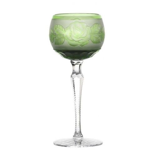 Bicchiere Rose, cristallo, colore verde, volume 190 ml