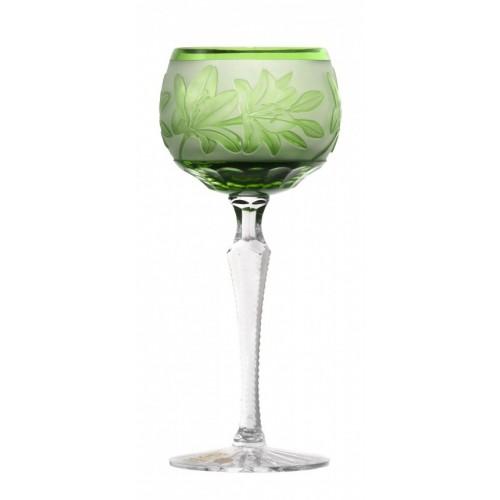 Bicchiere Giglio, cristallo, colore verde, volume 190 ml