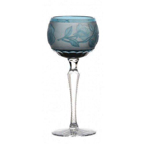 Bicchiere Rose, cristallo, colore azzurro, volume 190 ml