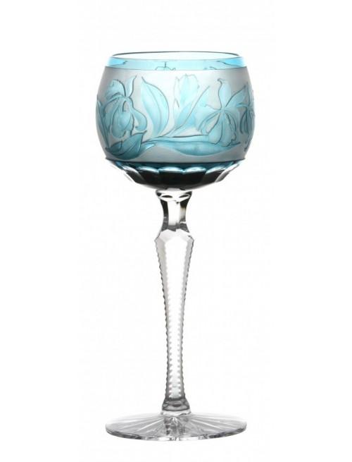 Bicchiere Iris, cristallo, colore azzurro, volume 190 ml