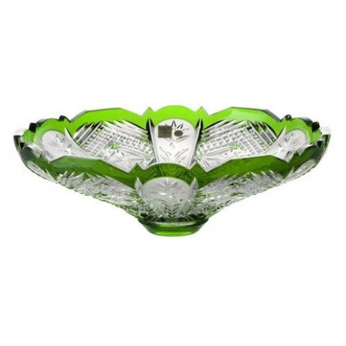 Insalatiera Dorote, cristallo, colore verde, diametro 320 mm