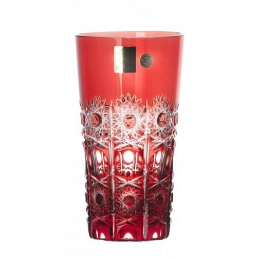 Bicchiere Petra, cristallo, colore rosso, volume 320 ml