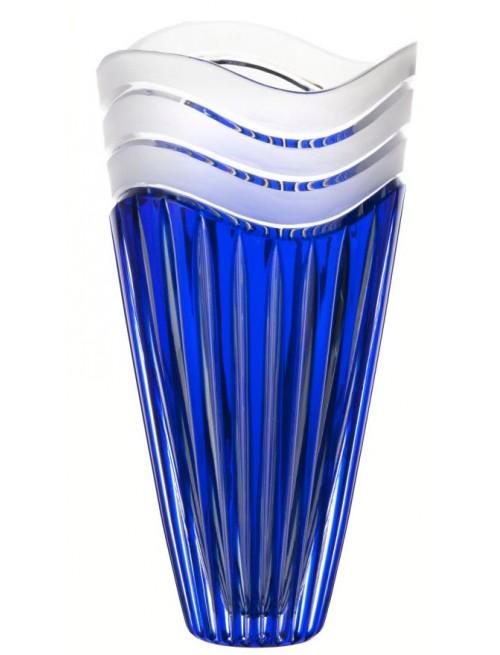 Vaso Dune, cristallo, colore blu, altezza 270 mm