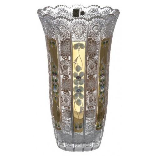 Vaso 500PK, cristallo trasparente dipinto oro, altezza 310 mm