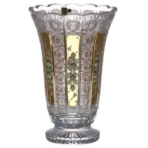 Vaso 500PK, cristallo trasparente dipinto oro, altezza 305 mm